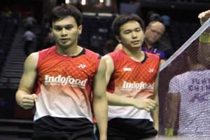 Ahsan/Hendra kalahkan Liu Xiaolong/Qiu Zihan