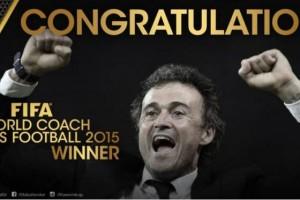 Luis Enrique Raih Gelar Pelatih Pria Terbaik Dunia 2015