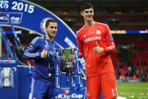 Eden Hazard dan Thibaut Courtois