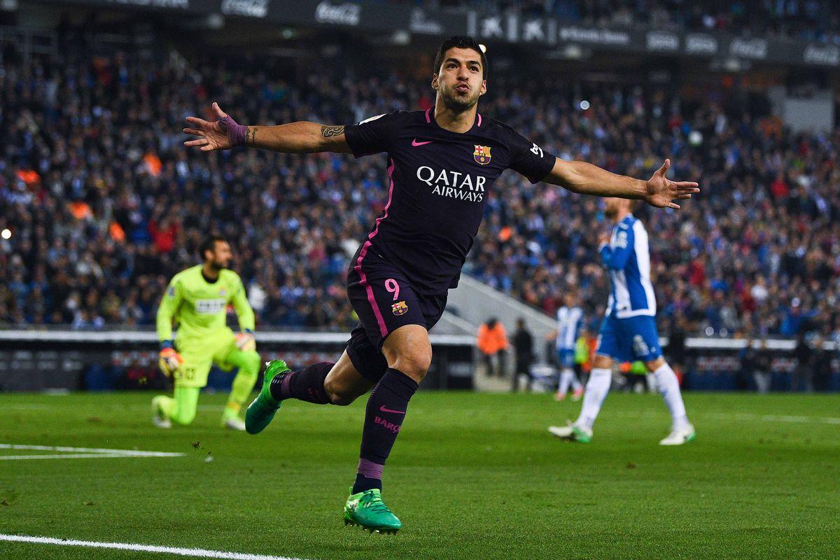 Selebrasi Gol Luis Suarez - Barcelona