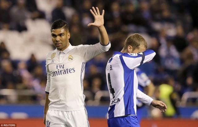 Selebrasi Gol Casemiro - Real Madrid