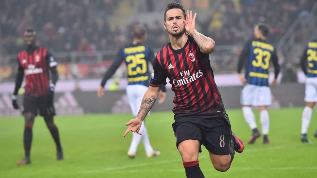 Selebrasi Gol Suso - AC Milan
