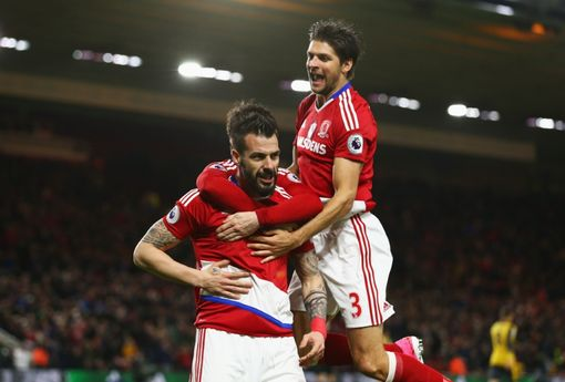 Selebrasi Gol Alvaro Negredo - Middlesbrough