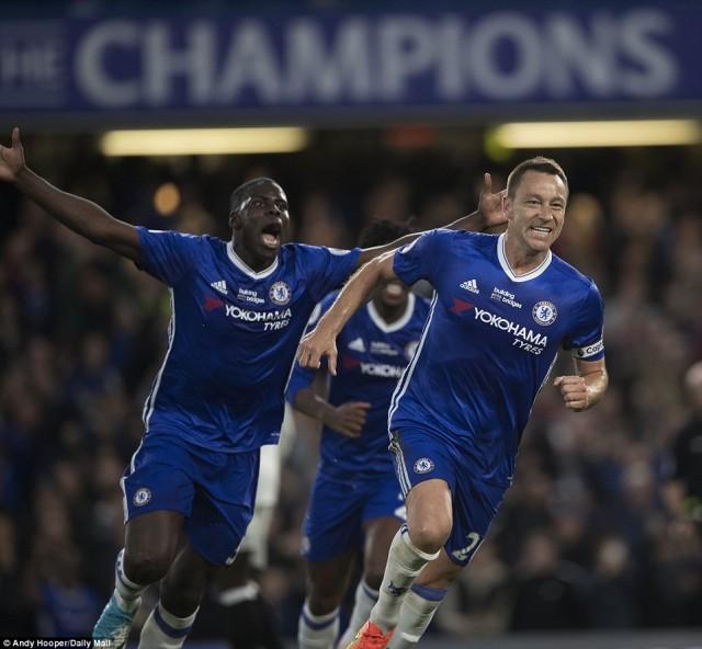 Selebrasi Gol John Terry - Chelsea