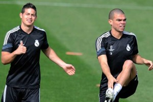 James Rodriguez dan Pepe